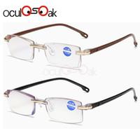 lentes de dioptria venda por atacado-Ultraleve sem aro óculos de leitura mulheres homens limpar lente anti-blu-ray computador óculos presbiopia eyewear dioptria