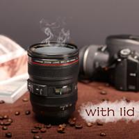 кружка кофе slr объектив камеры оптовых-Новый Caniam зеркальный объектив камеры 24-105mm 1: 1 масштаб пластиковые кофе чай кружка 400 мл творческие чашки и кружки с крышкой M102 кружка-09