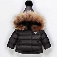 manteau noir pour bébé fille achat en gros de-Nouvelle arrivée bébé fille hiver bas manteau 2019 enfants épais vêtements enfants chaud Outwear infantile rembourré veste beige rouge noir couleur
