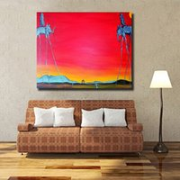 Wholesale canvas oil paintings dali resale online - Salvador Dali Surrealism Abstract HD Wall Art Canvas Posters Prints Oil Painting Wall Pictures For Living Room Home Decor