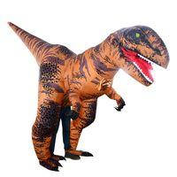 aufblasbarer karneval großhandel-2019 Neue T-Rex-Kostüm-erwachsene Größe Aufblasbare Dinosaurier-Kostüm für Halloween Weihnachten Fantasie-Partei-Karneval Kostüme Anzug