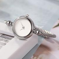 ingrosso braccialetti d'argento liberi-Le donne di lusso guarda il braccialetto delle donne di marca del progettista della moda si vestono le signore di alta qualità orologi da polso casuali d'argento dell'oro trasporto libero