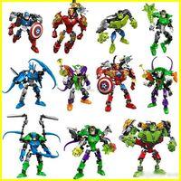 Wholesale assembly diy toys for sale - Group buy New the Avengers super hero building blocks assembly robot building block Superhero Captain America Hulk Children educational diy toys