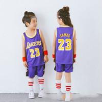 Wholesale jerseys for girls resale online - children jerseys kids basketball for boy gym apparel Basketball tracksuit Camiseta Baloncesto Kids maillot basket
