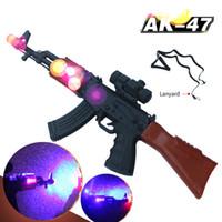 brinquedo modelo de rifle venda por atacado-arma Sniper arma rifle de brinquedo AK47Submachine com som e arma de brinquedo crianças atacado brinquedo Modelo de lightChildren