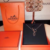 cadena de letras h al por mayor-H Carta Francia 18ss Collar de diamantes Collar de plata Hip Hop para hombre Collares de mujer Gargantilla de cadena larga Sin caja