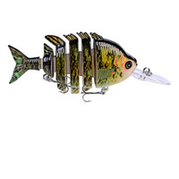 Wholesale Quality Swimbait Hard Bait cm g Fishing Jointed Lure Segments Artificial Minnow Lures For Perch