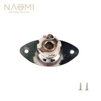 Wholesale guitar socket for sale - Group buy NAOMI Oval Indented Guitar Jack Plates Socket W Mounting Screws For Bass Guitar Parts Accessories New
