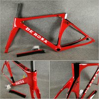 Wholesale 56cm bikes resale online - T1000 UD Glossy Red painting De rosa SK carbon road bike Frames with cm for selection