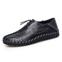 туфли на высоком каблуке оптовых-Мужская повседневная обувь Мода Мужские мокасины Квартиры дышащий Вождение Обувь Человек кожи высокого качества Лодочные обувь Мокасины