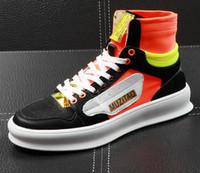 hommes chaussures de sport occasionnels achat en gros de-Classic marque mens casual chaussures multicolore épissage haut-tops chaussures confortable plat chaussures de conduite Groom chaussure chaussure lf110