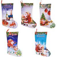 Wholesale felt christmas gift bags for sale - Group buy Christmas Stocking Gift Bags Felt Cloth Christmas Tree Stocking Candy Gift D Xmas Decorations Bag Santa Printed Christmas Ornaments