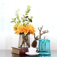 Wholesale cute vases for sale - Group buy Cute Small Size Multi Color Glass Vases Fashion Tabletop Vase Gift Home Decoration Accessories Modern Nordic Vases