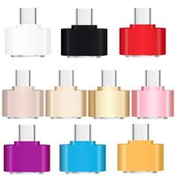 Wholesale smartphone usb port for sale - Group buy Mini Micro USB pin to Female USB Port OTG Adapter Data Sync Charge for Samsung HTC HUAWEI LG Smartphone Tab U Disk