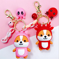 Wholesale squirrel bag for sale - Group buy Cartoon Cute Keychains Women Girls Squirrel Charm Bags key chain Accessories Pendant Car New Keyring Jewelry Gifts