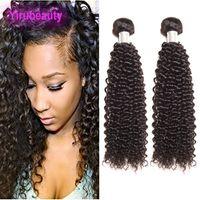 32 inç sapık kıvırcık saç toptan satış-Perulu 100% İşlenmemiş İnsan Saç Paketler Sapıkça Kıvırcık 95-100 g / adet 9A Bakire Saç Uzantıları Sapıkça Kıvırcık Doğal Renk