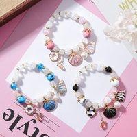 ingrosso perline in cristallo ceramico-Vsco Bead Bracelet Shell Bracciale in ceramica Braccialetti di perline di cristallo per regali Vsco Girl Gioielli fai da te