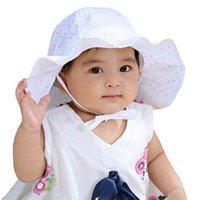 Wholesale baby wide brim hat resale online - Baby Hat New Cute Baby Wide Brim Sun Hat Kids Ear Bucket Cap Bonnet Cool Summer Children s Outdoor Sun M