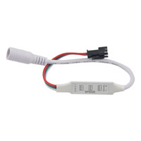 Wholesale black ws2811 led strip for sale - Group buy SP002E key DC5 V LED RGB Controller For WS2811 WS2812B UCS1903 SK6812 APA102 LED Strip Module light DC RED BLACK WIRE connector input