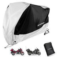 siyah motosiklet örtüsü toptan satış-1500 1200 1000 1100 XXXL BlackSilver Motosiklet Kapak için Honda Goldwing GL1800