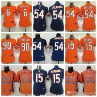 maillots élite orange achat en gros de-Femmes Chicago 90 Peppers Bears 54 Urlacher 99 Hampton 15 Marshall 6 Cutler Drift Mode orange Maillots Elite