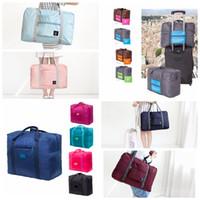 faltbare gepäcktaschen großhandel-13 arten Reisetasche Reise Frauen Falttasche Unisex Männer Gepäck Reise Handtaschen Duffle Tragbare Faltbare gepäck aufbewahrungstasche FFA1854