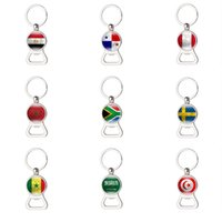 Wholesale soccer bottle for sale - Group buy Russia World Cup Beer Bottle Opener Key Chain Egypt Peru Panama Saudi Arabia South Africa Soccer Men s Fashion Party Decor New