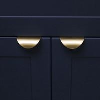 europäischer stil kabinett zieht großhandel-Messing Schubladengriffe Schrank zieht versteckte Türgriff Runde Möbel Türgriffe Tür Hardware einfache nordeuropäischen Stil