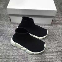 kız yün çizmeler örme toptan satış-Marka Tasarımcısı Çocuklar Spor Çizmeler Yün Örme Nefes Atletizm Erkek ve Kız Koşu Ayakkabıları Bebek Sneakers Yeni Çorap Ayakkabı