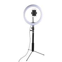 ingrosso lampada iphone-LED Selfie Ring Light Studio Fotografia Foto Riempire Anello Luce Video Lampada con treppiede per Canon Nikon Sony Fotocamera iphone Samsung Smartphone