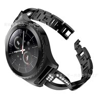 elmas şekilli kristaller toptan satış-S2 X-Şekilli Elmas Seti için Uygun Çelik Kemer ile Elmas Saat Kayışı Kristal Paslanmaz Çelik Watch Band