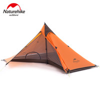 кемпинговые палатки для одного человека оптовых-Naturehike Minaret Hiking Tent Ultra-light Camping Tents For One Person With Mat NH17T030-L