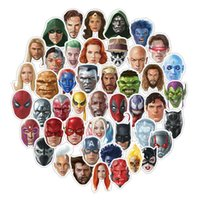 Wholesale arrival laptop for sale - Group buy Personality Marvel Avengers Movies Character Stickers Pvc Luggage Box Decals Laptop Pasters Reusable New Arrival One Kits yh E1