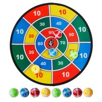 tablas de dardos al por mayor-Deportes Juguetes Tela Dardos determinados del cabrito del juego de bola de destino para el juguete de seguridad Niños con 8 pequeños dardos bola