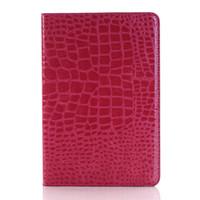 ipad fall krokodil großhandel-Crocodile Grain Matte Leather für Apple iPad Mini Case mit Cash Wallet für iPad Air Series Schutzhülle für das iPad Pro 2018