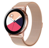 Wholesale samsung galaxy watches online – Milanese Loop Bands for Samsung Galaxy Watch Active Stainless Steel Strap Sports bracelet for Galaxy Watch mm watch band