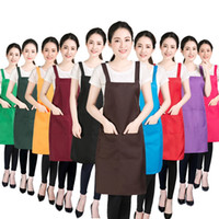 Wholesale aprons for painting resale online - 12 Colors Adult big Kids Aprons Pocket Craft Cooking Baking Art Painting Adult Kitchen Dining Bib Aprons for Children Christmas Halloween