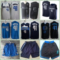 Wholesale dirk nowitzki jerseys resale online - Basketball Jerseys Vintage Mens Dirk Nowitzki College Earned Edition NCAA Home Blue Retro Stitched Shirts Top quality