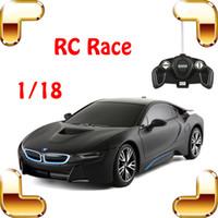nuevos coches rc llegada al por mayor-Nueva idea de regalo de llegada 8 1/18 RC Racing Coche eléctrico Juguete Control remoto Modelo Vehículo Niños Favor Juego divertido Carrera deportiva Presente