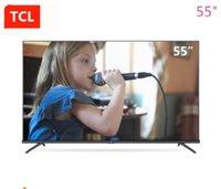 fotos gratis hd al por mayor-TCL 55 pulgadas AI estrella inteligente pantalla plana TV ecología entera HDR ultra hd 4K TV Q imagen motor nuevo producto caliente envío gratis.