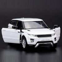 brinquedos mini carros brancos venda por atacado-Alta Simulação requintados Die-castsToy Veículos: cidade RMZ Car Styling Evoque Luxo Pull SUV 01:36 liga carro modelo Voltar Car CJ191212