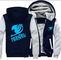 Wholesale adult fleece jacket resale online - Adult Men Women Anime Carton Fairy Tail Logo Cosplay Luminous Jacket Sweatshirts Thicken Hoodie Winter Coat