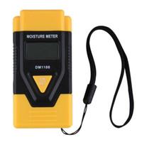 medidores de umidade da madeira venda por atacado-DM1100 LCD Display Digital Medidor De Umidade De Madeira Testador de Umidade Higrômetro Dois Pinos de Madeira Testador de Umidade de Madeira de Madeira Umidade