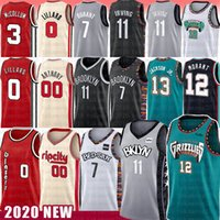Wholesale lillard jersey for sale - Group buy 7 Kevin Ja Morant Durant NCAA Basketball Jersey Kyrie JAREN JACKSON JR Irving Damian CJ Lillard Carmelo Anthony McColl New