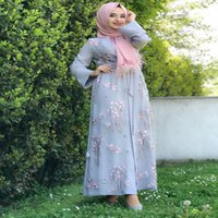 Wholesale fashion world dresses for sale - Group buy Summer World Apparel Fashion Muslim Dresses Long Embroidery Floral Robe Dress Middle Eastern Turkey Clothing For Women