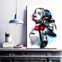 Wholesale batman painting for sale - Group buy Wall Modern Movie Batman Joker Harley Quinn Canvas Painting Art Picture Wall Paintings Home Decoration