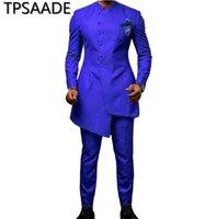 ingrosso colori del cappotto del pantalone-8 colori 2019 Nuovi abiti da sposa da uomo con pantaloni 2 pezzi Abiti da uomo Smoking da ballo slim fit Homme Coat Blazer Jacket + Pants