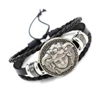 Wholesale mens wrap bracelets for sale - Group buy hip hop jewerly Mens leather bracelet Leather bangles for men C Braided Multi Layer Wrap Bracelet man pulseras para hombre