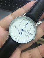 kuvars analog saatler toptan satış-Moda Marka Nomos Erkek Saatler Lüks Deri Kuvars Saatler Erkekler DW Montre Homme Iş Erkek Kol Saati Adam Reloj Hombre