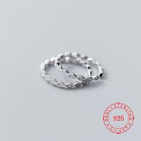 mädchen ringe finger größe großhandel-Größe 5 ~ 9,5 Neueste Design Reine 925 Sterling Silber Schmuck Für Mädchen Geschenk Frauen Plain Fashion Einfache CZ Fingerring